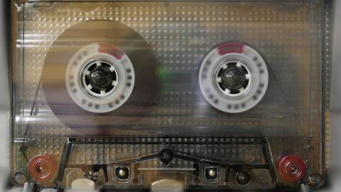 Cassette Tape Deck Running Footage