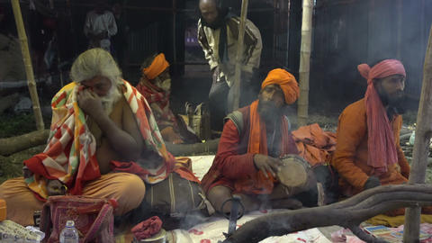 Gathering of Indian Hindu sadhus Filmmaterial
