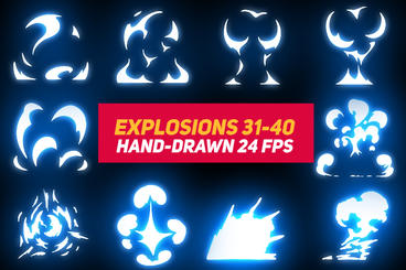 Liquid Elements Explosions 31-40 After Effects Template