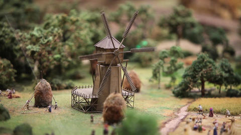 The windmill rotates Footage