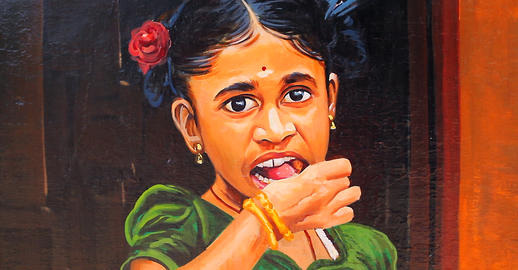 A image of painted onto a wall in Chennai India Fotografía