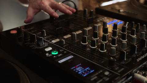 Slow motion of a DJ controller being played Footage