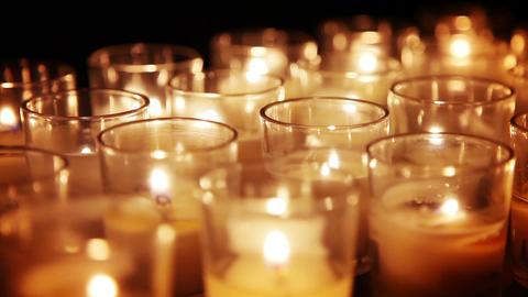 Votive Candles Background Image