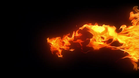 Looping Fire Element Filmmaterial