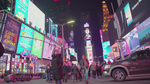 Times Square View In Manhattan Footage