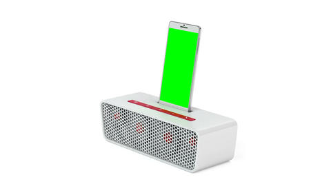 Smartphone and docking station speaker Animation