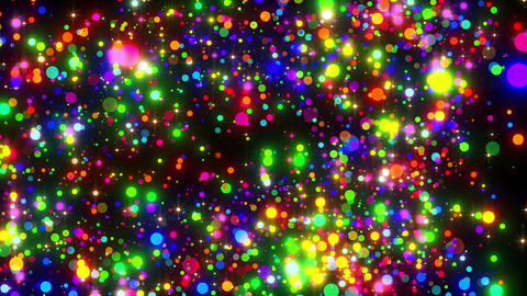 VJ Loops Flying Particles