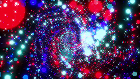 VJ Loops Flying Particles 2