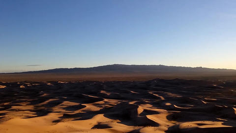 Sand Dunes in the Gobi Footage