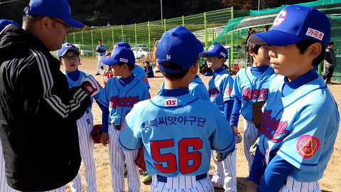 Korean Junior Baseball League Footage