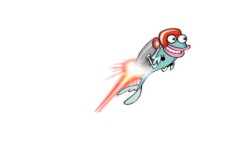 Rocket Fish Animation