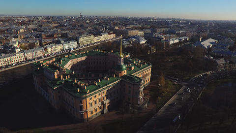 Historical Building From Bird's-Eye View Live Action