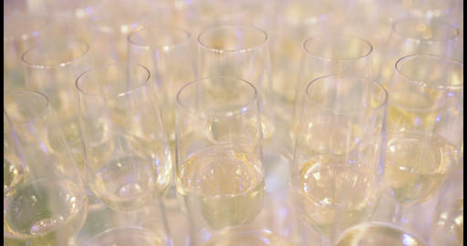 New Year Champagne Flutes Footage