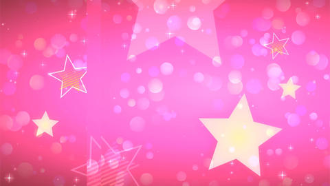 Anime style pink glitter Animation