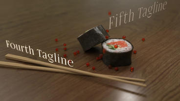 Sushi Restaurant - Sushi Commercial Template After Effects Template