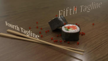 Sushi Restaurant - Sushi Commercial Template Plantilla de After Effects