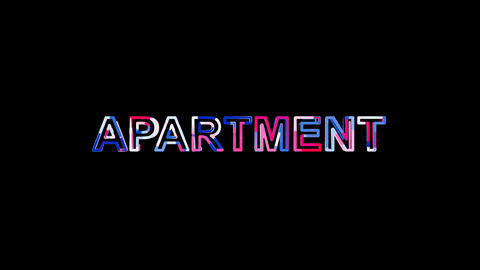 Letters are collected in text APARTMENT, then scattered into strips. Bright Animation