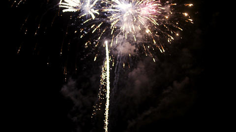 New Year firework display Footage