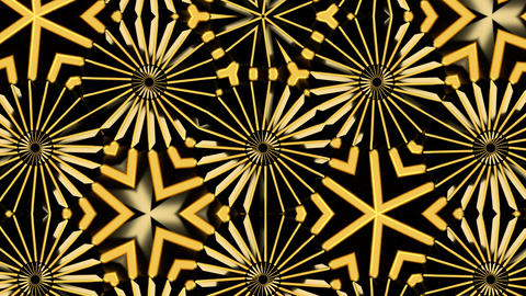 Abstract background with gold kaleidoscope Image