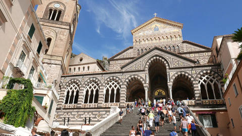 Amalfi cathedral Italy Footage