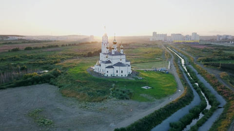 Ekaterinburg. Annunciation Church of the Saints of God's Builders. Academic Footage