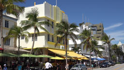 USA Florida Miami South Beach Ocean Drive Art Deco style hotels with awnings Image