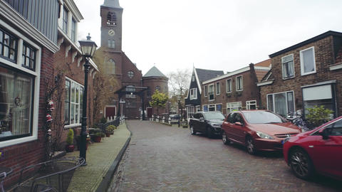 VOLENDAM, NETHERLANDS - DECEMBER 30, 2017. Saint Vincentius catholic church Footage