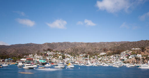 Bay and Town of Avalon on Catalina Island Footage