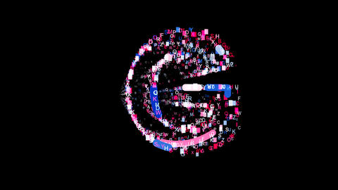 Letters are collected in latin letter G, then scattered into strips. Bright Animation