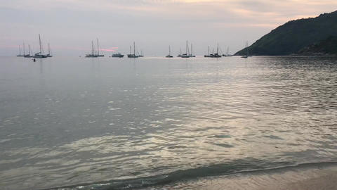 video clip of beautiful beach when sunset 영상물