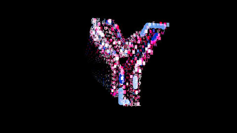 Letters are collected in latin letter Y, then scattered into strips. Bright Animation
