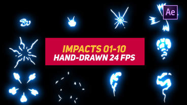Liquid Elements Impacts 01-10 After Effects Templates