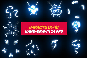 Liquid Elements Impacts 01-10 After Effects Template