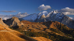 Dolomites, Sella Pass South Tyrol, Italy Footage