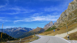 Road to Pordoi Pass, Dolomities, Italy Footage