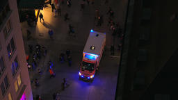 Ambulance in action in the city Footage