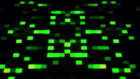 Sci-Fi Green Glowing Artificial Intelligence AI Squares Loopable Background Animation