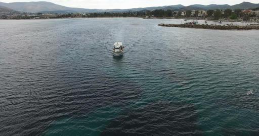 Fishing Boat during Nightfall Footage