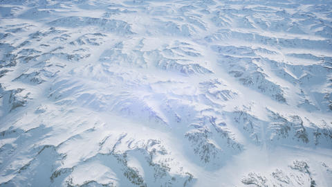 aerial view of snow covered terrain Live Action