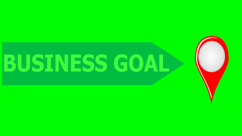 Business motivation footage on green screen, the way to... Stock Video Footage