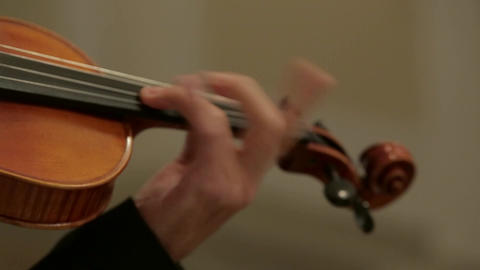 a violin in stylish men's hands Footage