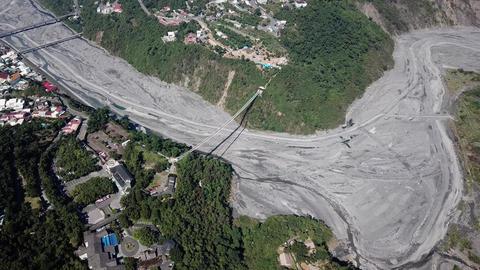 DJI MAVIC 4K Taiwan Pingtung Aerial Drone Video Baibin Mountain Liouli bridge Bild