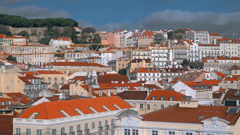 Lisbon Panorama. Timelapse 4k. Lisbon is the capital and the largest city of Footage