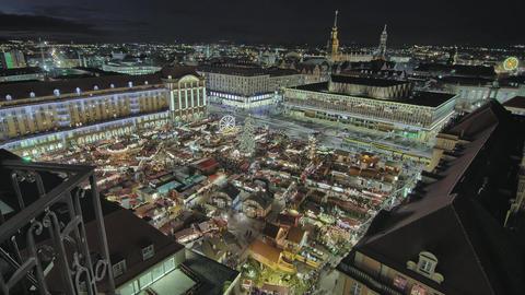 Striezelmarkt Dresden Germany Christmas Market Timelapse Footage