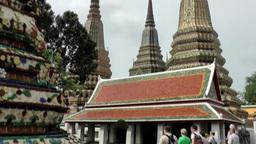 Thailand Bangkok 035 magnificent pillars in yard of wat pho temple Footage