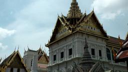 Thailand Bangkok 064 corner of grand palace at royal palace Footage