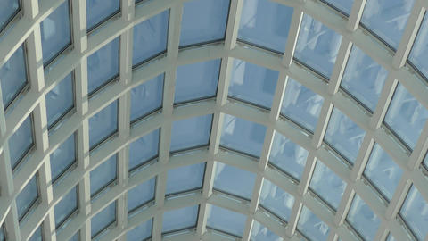 Glass Roof Building stock footage