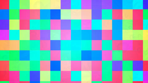 Broadcast Twinkling Hi-Tech Blocks, Multi Color, Abstract, 4K Animation