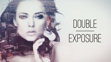 Double Exposure Parallax Titles stock footage