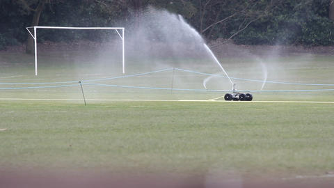 Watering Football PItch Footage